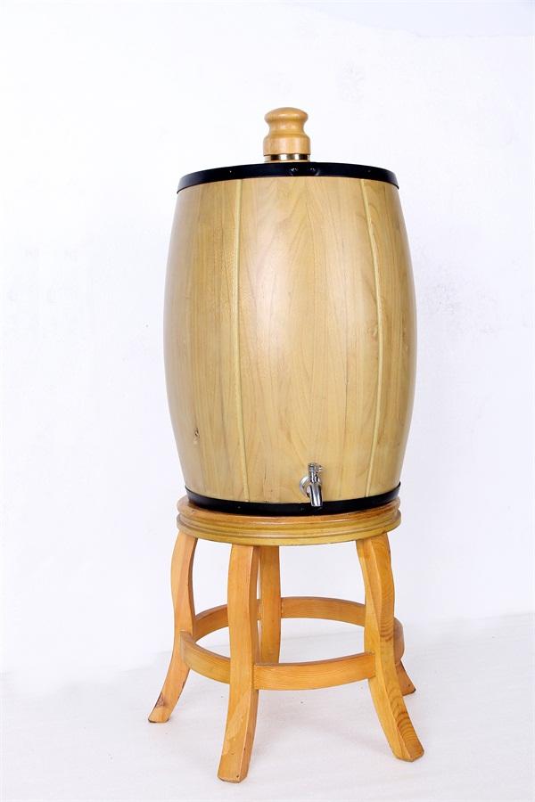 大型原色不锈钢内胆实木酒桶